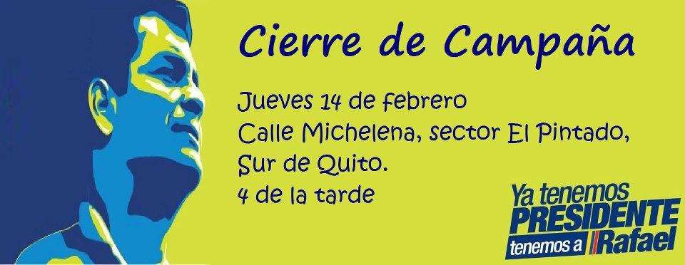 Rafael Correa cierre campana 14F