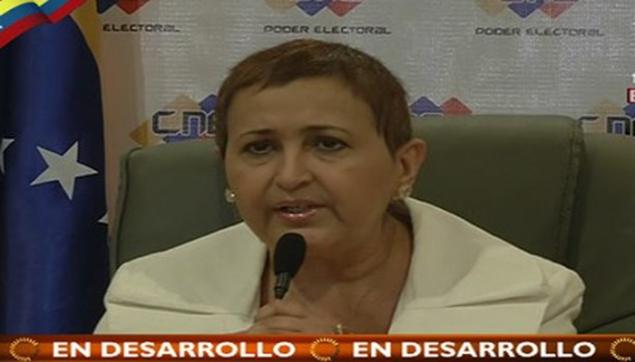 La presidenta del Consejo Nacional Electoral, Tibisay Lucena, indicó también que se acordó la suspensión de las elecciones municipales que estaban programadas (Foto: teleSUR)