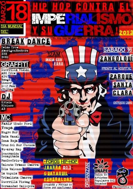 Festival por el Dia Mundial del Hip Hop contra el Imperialismo y su Guerra!