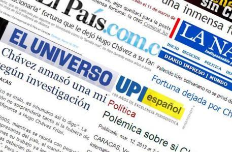 EXTRA- ATACAN SIN PIEDAD A FAMILIA DE CHÁVEZ EL PAÍS, ABC, EL COLOMBIANO, LA NACIÓN Y UNIVISIÓN