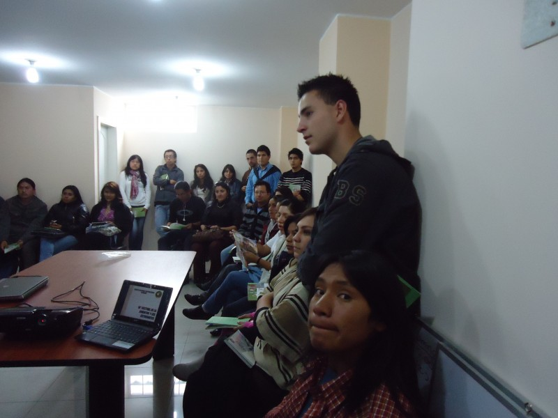 Gran acogida de las organizaciones  juveniles y estudiantiles de Tungurahua