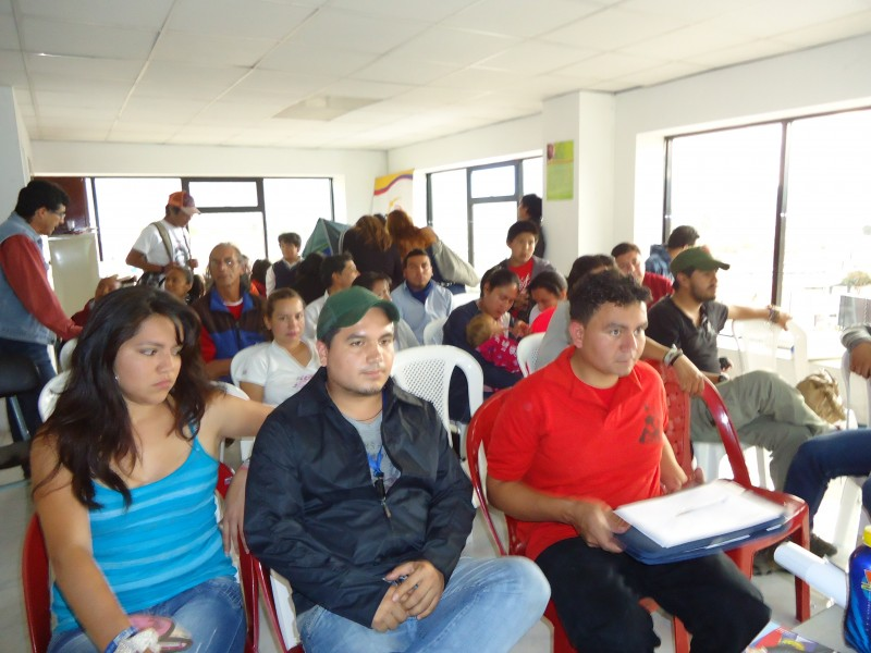 socialización del 18FMJE en Imbabura