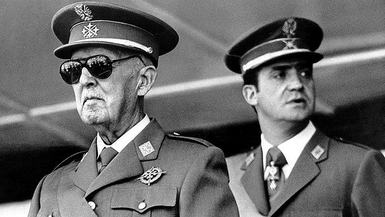 Dictador Franco y Juan Carlos de Borbon