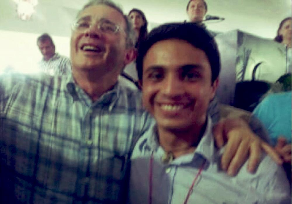 Narcotraficante Alvaro Uribe y terrorista confeso Lonent Saleh.