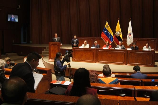 El Pueblo ecuatoriano mostró gran inquietud acerca del mencionado proyecto de ley que vulnerará los DDHH de todos los venezolanos.
